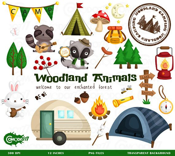 Woodland friends camping clipart graphic library Animal Camping Clipart, Animal Camping Clip Art, Animal ... graphic library