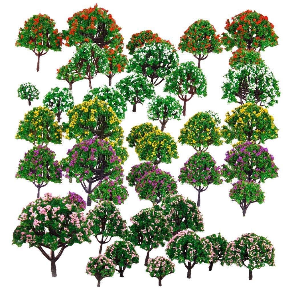 Woodland scenery clipart clip art freeuse library Amazon.com: HOSL 30 PCS Random Model Flower Trees1.5-6\
