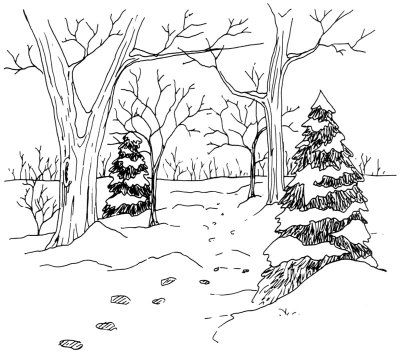 Woodland trail clipart banner freeuse download How to Draw a Woodland Trail in 5 Steps   Sketching/Drawing ... banner freeuse download