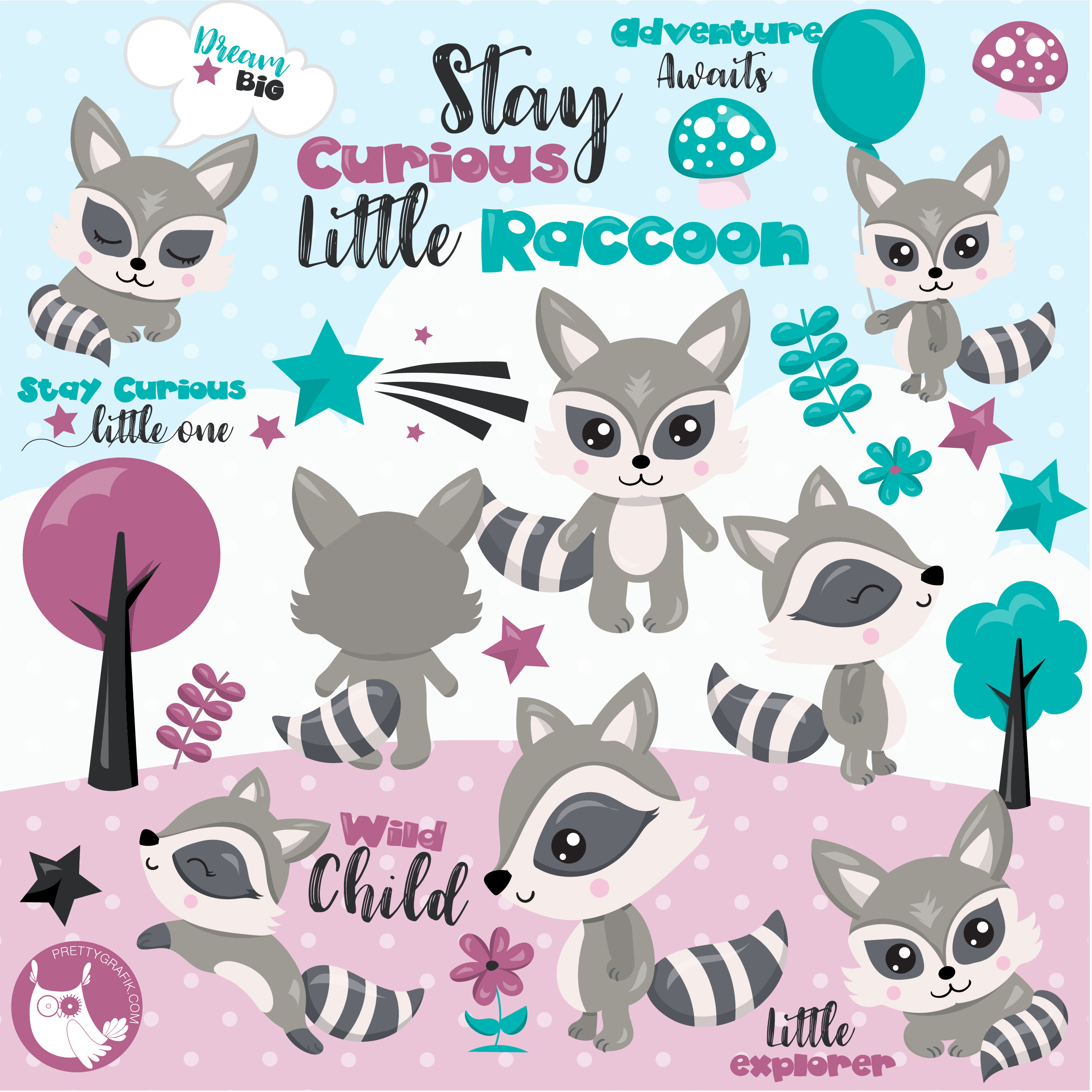 Woodlnd raccoon clipart picture royalty free download Woodland raccoon clipart picture royalty free download