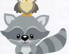 Woodlnd raccoon clipart
