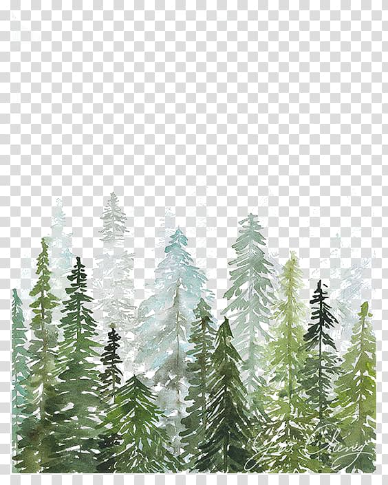 Woods with snow clipart drawing black and white Watercolor painting Printmaking Printing Drawing, Watercolor ... black and white