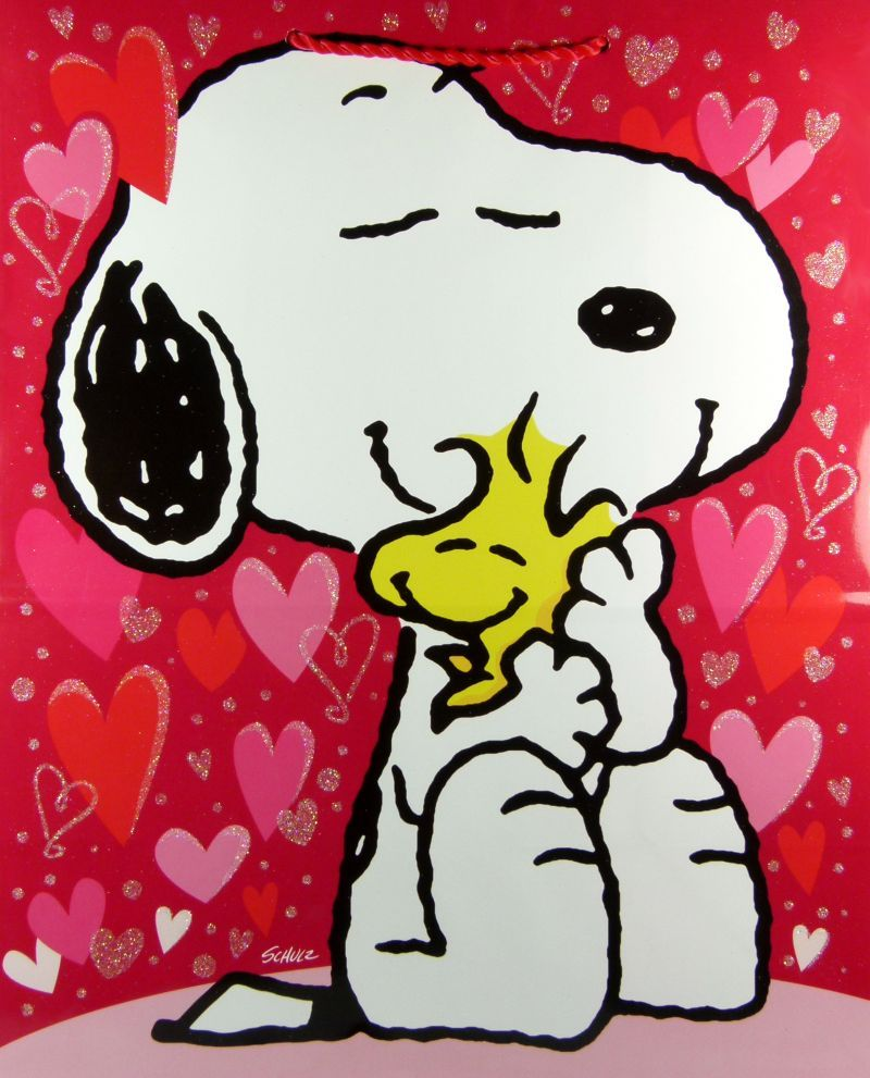 Woodstock clipart valentines png free stock snoopy valentine pictures | Snoopy Valentine\'s Day Gift Bag ... png free stock