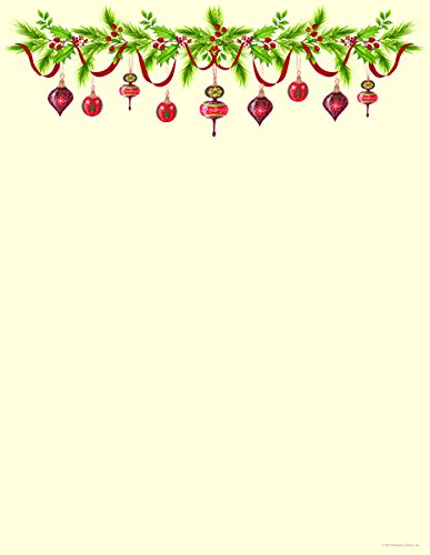 Woodsy christmas clipart graphic transparent library Christmas Stationery Grandma\'s Old Fashioned Ornaments Holiday Laser and  Inkjet Printer Invitation Paper graphic transparent library
