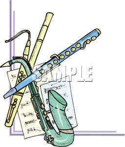 Woodwind clipart clip art free stock Woodwind Instruments - Royalty Free Clipart Picture clip art free stock