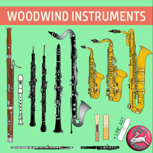 Woodwind clipart vector library library Woodwind Musical Instrument Clip Art vector library library