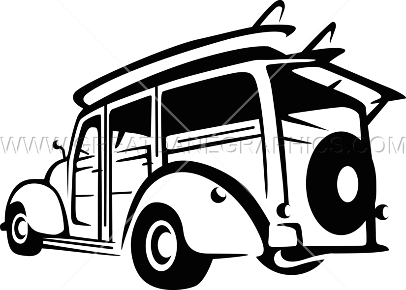 Woody car clipart clip art transparent stock Woody Surf Wagon   Production Ready Artwork for T-Shirt Printing clip art transparent stock