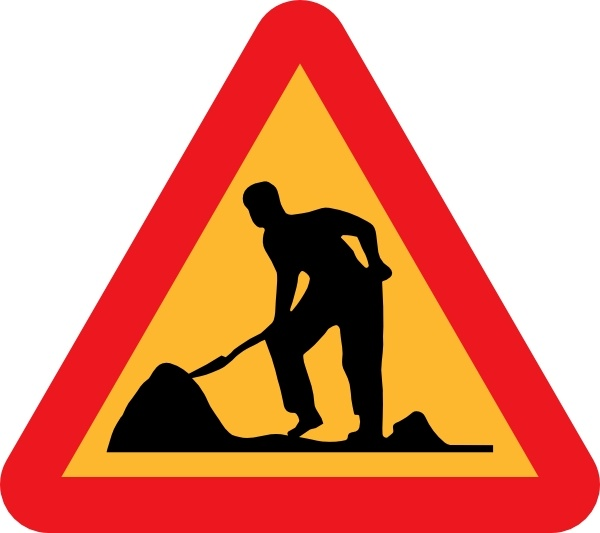 Wookman cliparts black and white Workman Ahead Roadsign clip art Free vector in Open office ... black and white