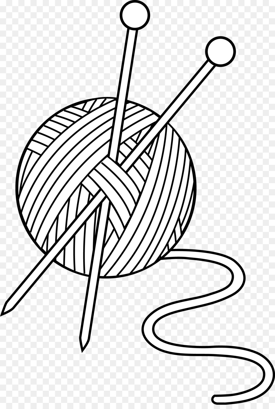 Wool clipart png svg royalty free Yarn Line Art png download - 3504*5161 - Free Transparent ... svg royalty free