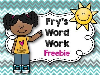 Word activities clipart free png library download Fry\'s Sight Word Work No Prep FREE | Sight Words | Fry words ... png library download