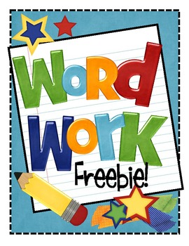 Word activities clipart free picture free stock Freebie word work activities by krista wallden creative ... picture free stock