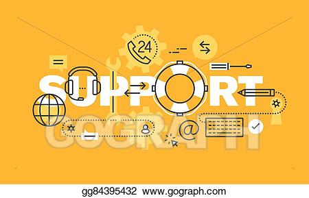 Word banner clipart clip transparent Vector Art - Word banner for support web page. EPS clipart ... clip transparent