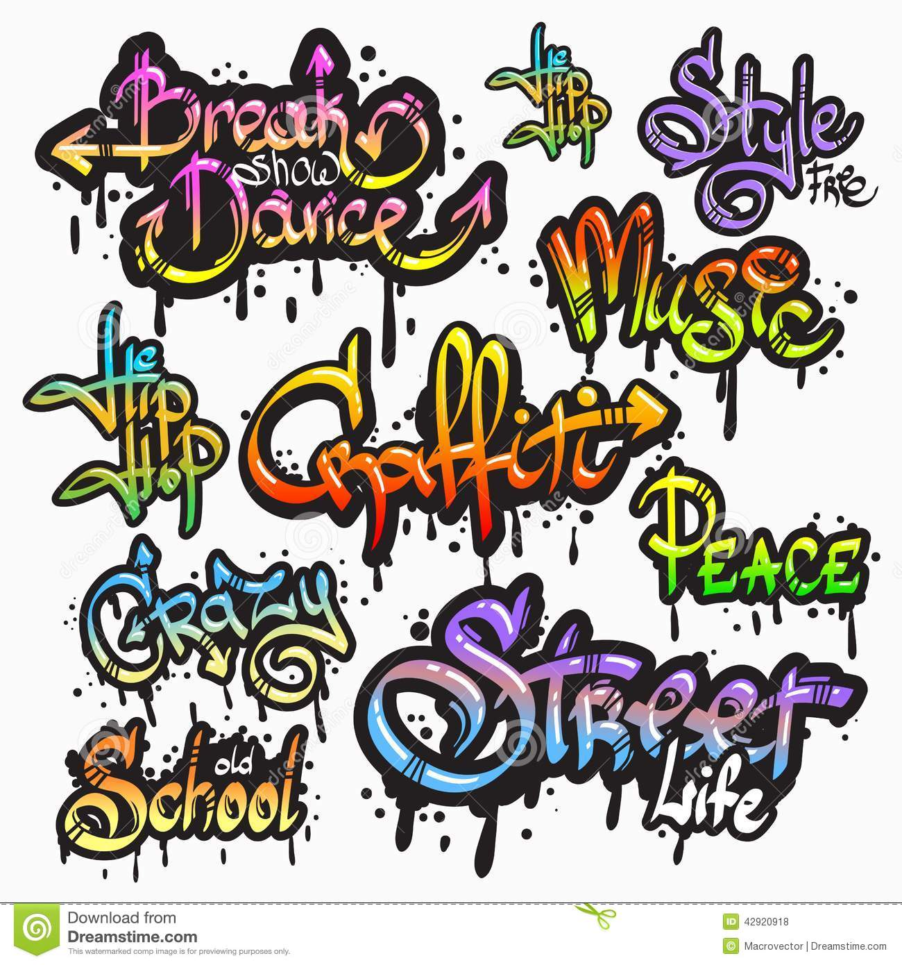 Word clipart creator banner library library Graffiti Word Set Stock Vector - Image: 42920918 banner library library