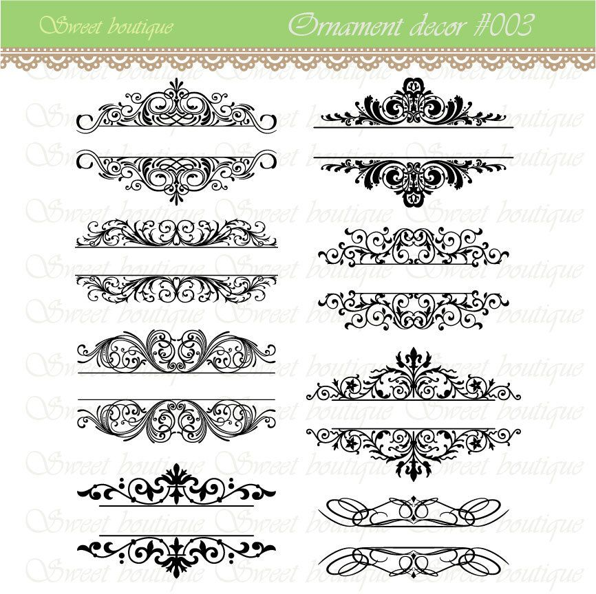 Word clipart wedding embellishments png free stock Vintage Calligraphy Clip Art Clipart DIY Wedding Invitation ... png free stock