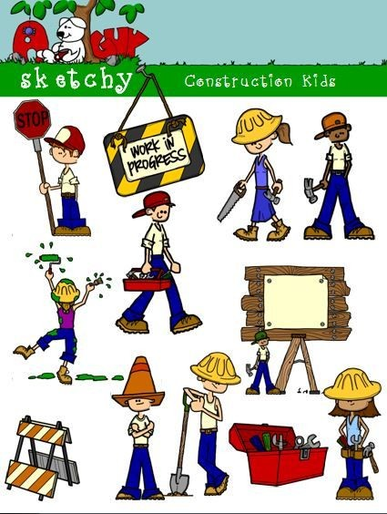 Word construction clipart clipart free Construction Themed Kid Clipart clipart free