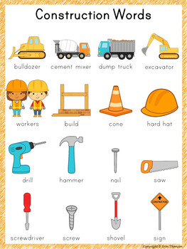 Word construction clipart clip library download Writing Center Word List ~ Construction Words clip library download