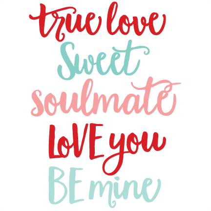 Word cute clipart png royalty free download Valentine Words SVG scrapbook cut file cute clipart files ... png royalty free download