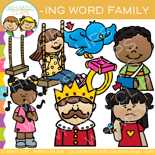 Word family clipart picture freeuse -ing Word Family Clip Art picture freeuse
