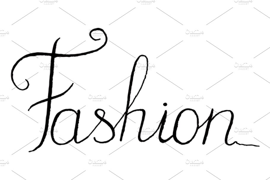 Word fashion clipart clipart transparent library Fashion word lettering italic vector clipart transparent library