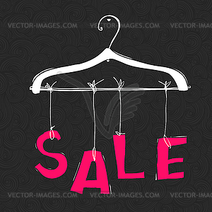 Word fashion clipart svg black and white Hanger with SALE word. Fashion sale concept - vector EPS clipart svg black and white