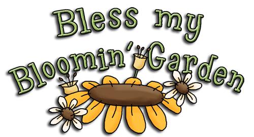 Word garden clipart clipart black and white REF594 - Bear Garden Bless My Bloomin Garden Word Art ... clipart black and white