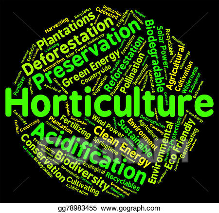 Word garden clipart png free stock Stock Illustration - Horticulture word represents flower ... png free stock