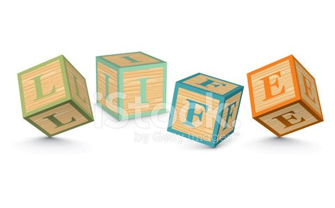Word life clipart vector library download Word Life Written With Alphabet Blocks premium clipart ... vector library download