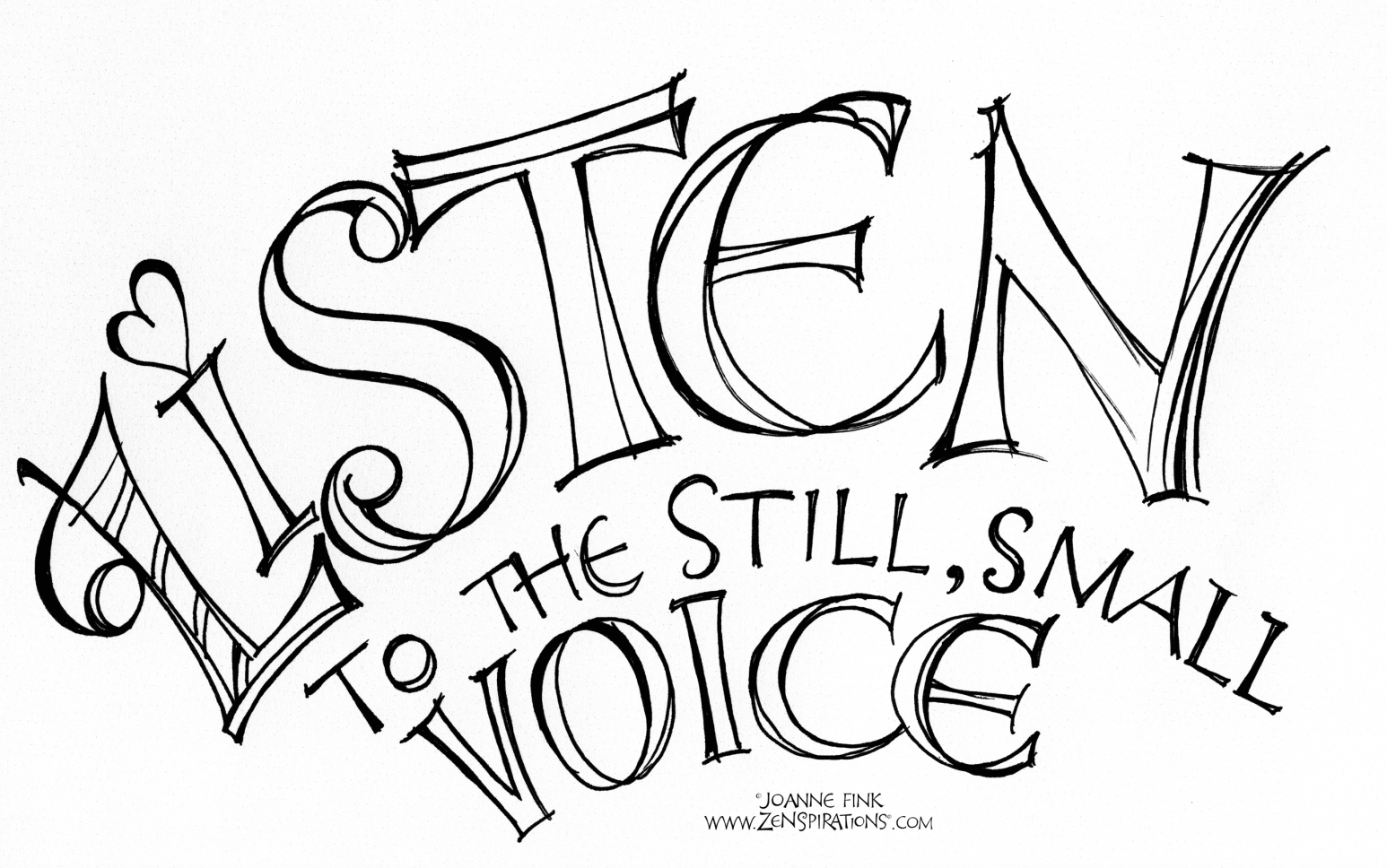 Word listen in clipart picture stock Learning to Listen - Zenspirations picture stock