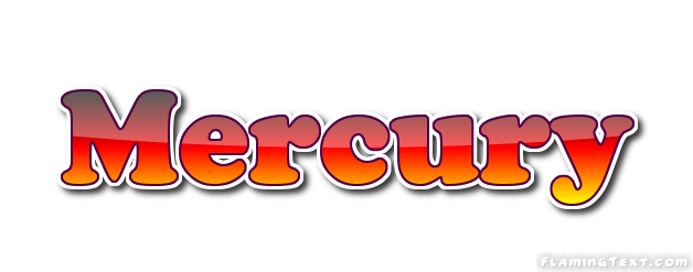 Word mercury clipart banner royalty free library Mercury Logo | Free Logo Design Tool from Flaming Text banner royalty free library