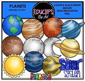 Word mercury clipart banner transparent download Planets Clip Art Bundle {Educlips Clipart} | Clip Art from ... banner transparent download