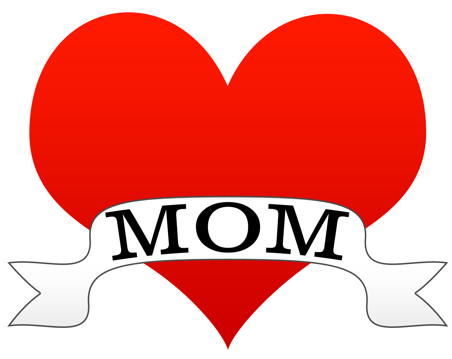 """Word mom clipart freeuse library the word """"MOM"""" in a ribbon 