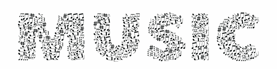 Word music clipart colored vector freeuse stock Free Clipart Of The Word Music Made Of Black And White ... vector freeuse stock