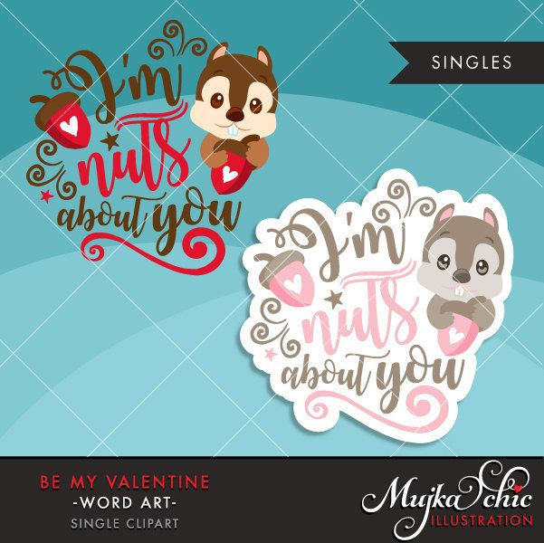 Word nuts clipart banner stock Valentine Clipart. Valentine\'s Day Word Art. I am Nuts About ... banner stock