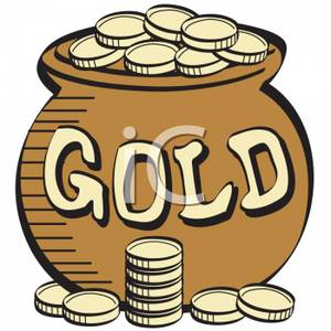Word pot clipart vector library download A Large Pot of Gold with the Word Gold on the Front ... vector library download