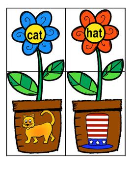 Word pot clipart jpg free library CVC Flowers jpg free library