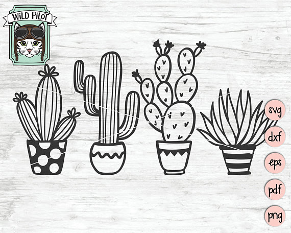 Word pot clipart image freeuse download Cactus SVG file, Succulent svg file, Cactus clip art ... image freeuse download