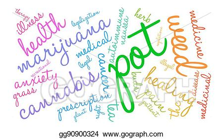 Word pot clipart jpg black and white library Vector Clipart - Pot word cloud. Vector Illustration ... jpg black and white library