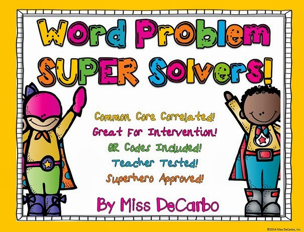 Word problems clipart freeuse SUPER Solvers To The Rescue!! Word Problem Intervention ... freeuse