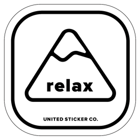 Word relax clipart transparent clip art freeuse download [ Relax ] Mountain Badge Sticker clip art freeuse download