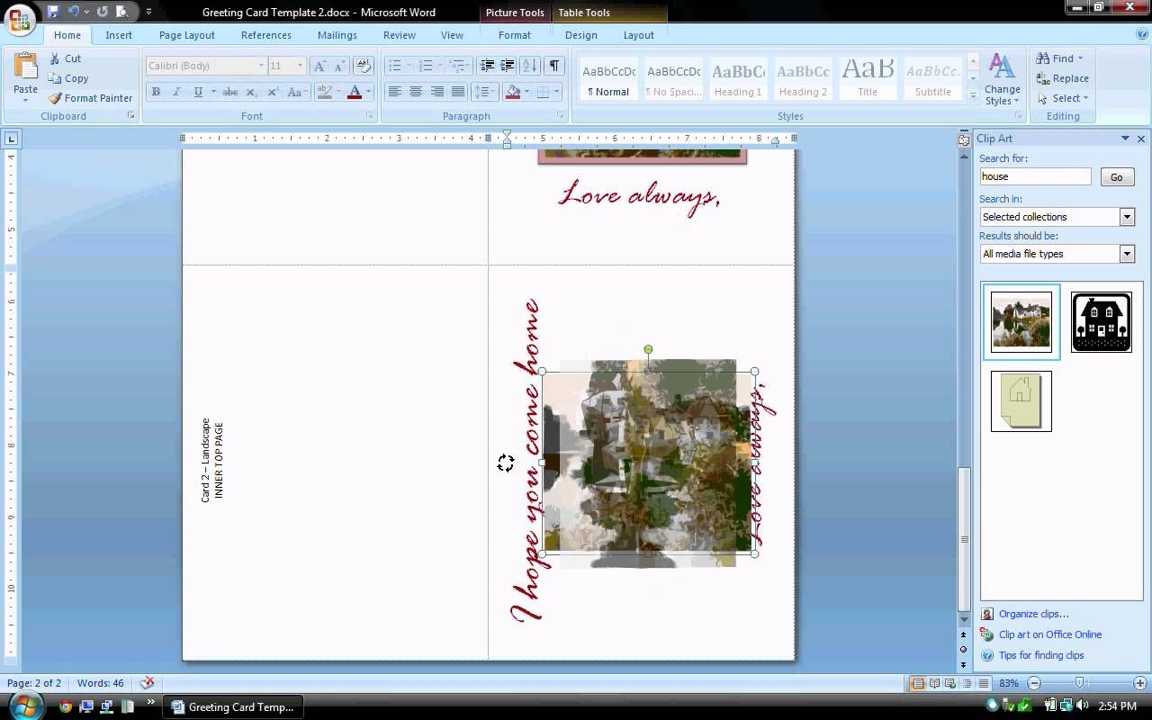 Word search and replace clipart clip library library MS Word Tutorial (PART 2) - Greeting Card Template ... clip library library