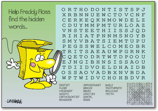 Word search clipart jpg black and white download Word Search 4-up Laser Card | SmartPractice Dental jpg black and white download