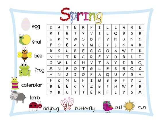 Word search clipart png library download Kindergarten Word Search | The clipart is from Graphics from the ... png library download