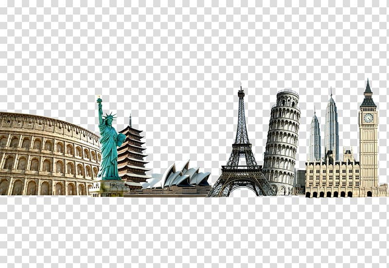 Word skyscrapers clipart png free Landmarks , Template Travel itinerary Brochure Microsoft ... png free