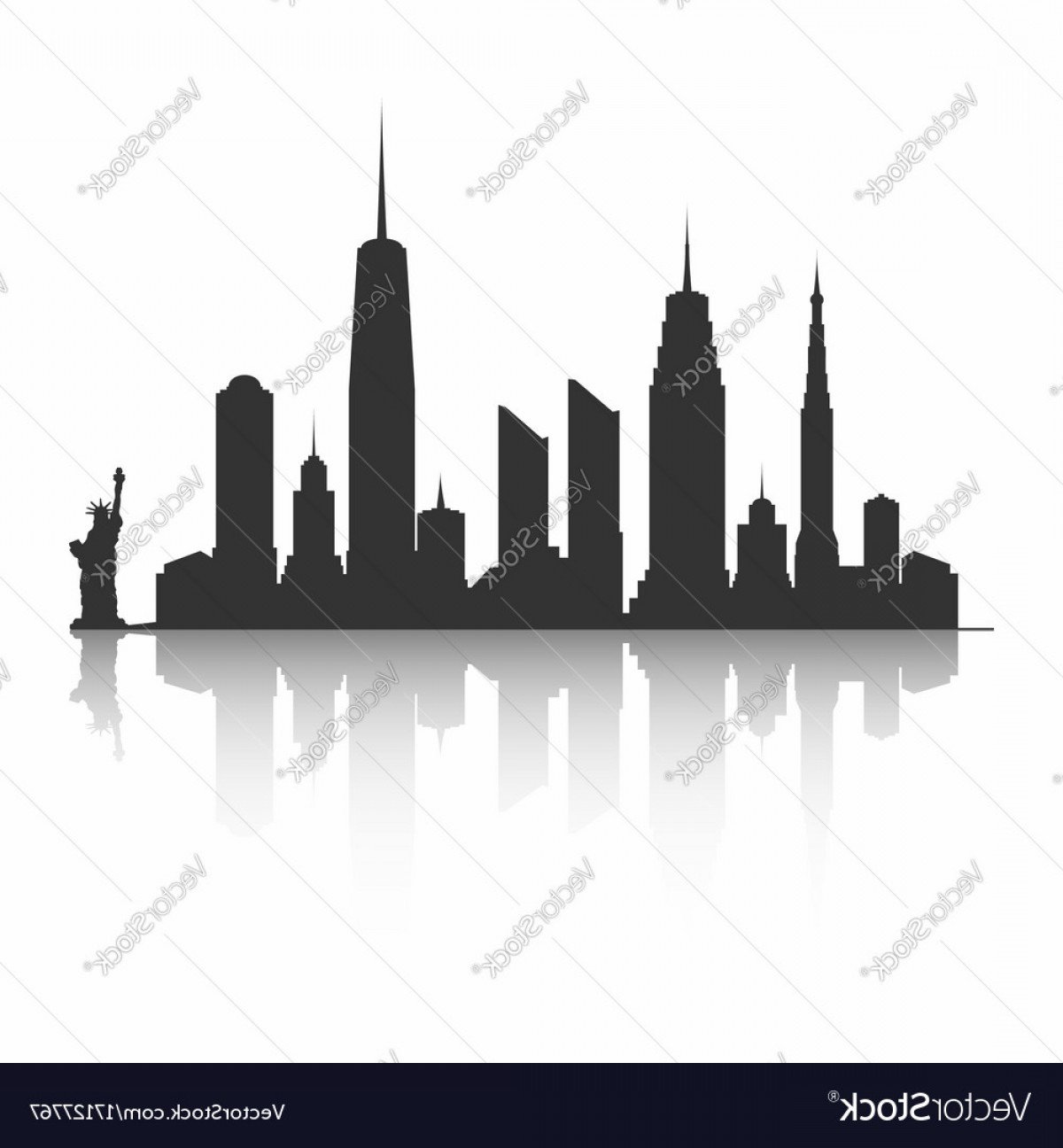Word skyscrapers clipart picture transparent library New York City Skyline Silhouette Skyscrapers And Vector ... picture transparent library