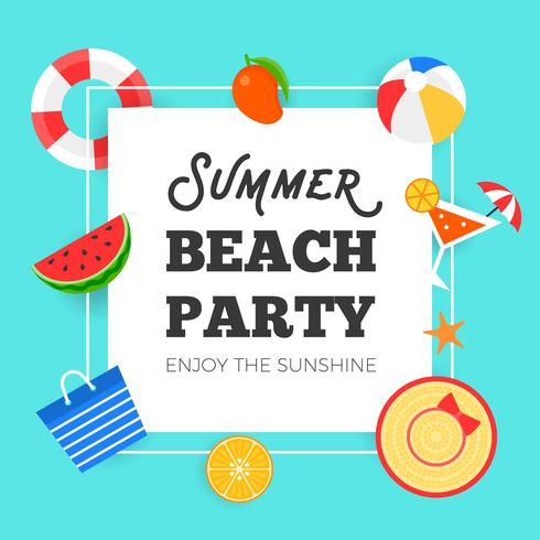 Word summer flavors time clipart jpg black and white download Summer time, Summer beach party vector illustration ... jpg black and white download