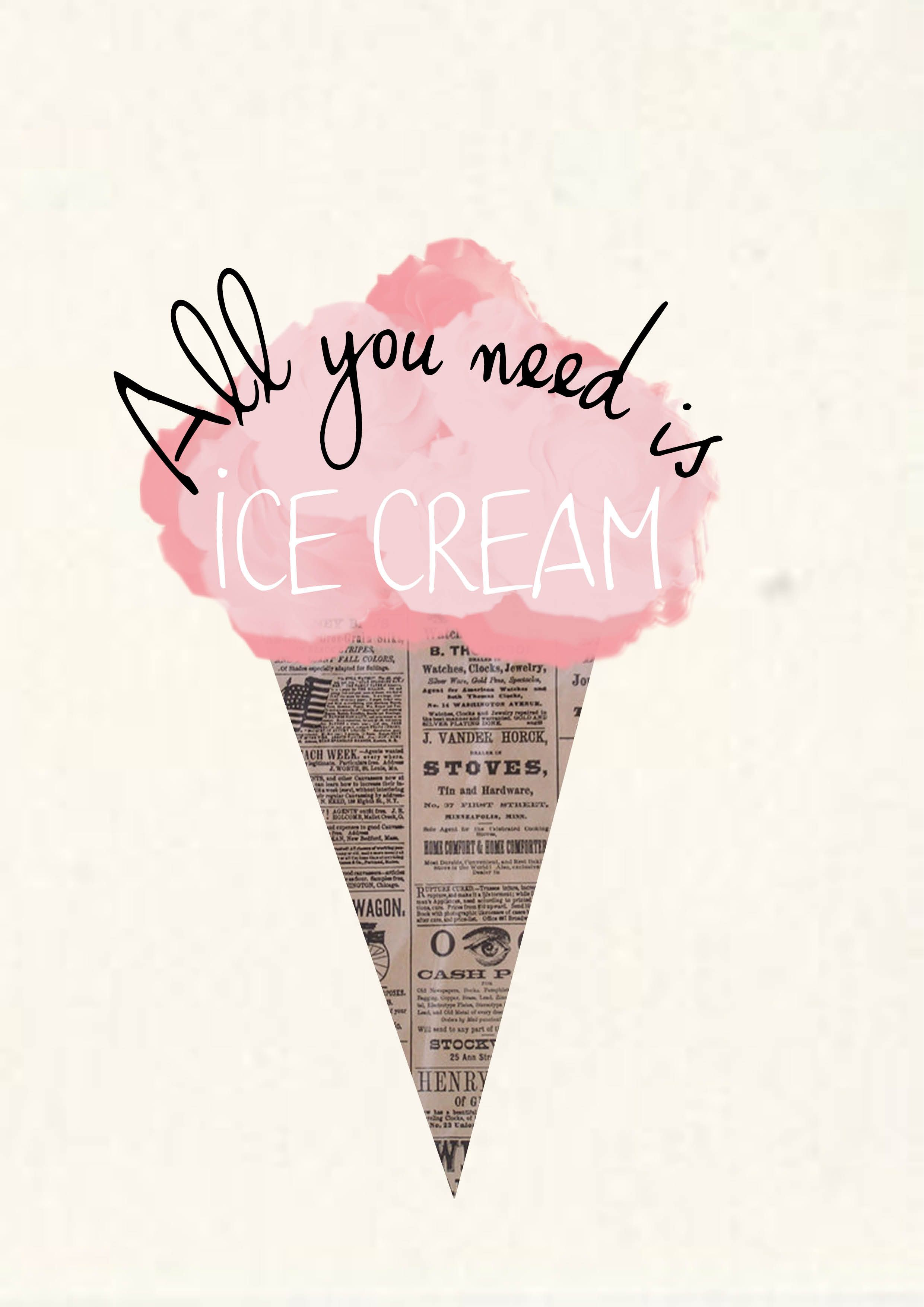 Word summer flavors time clipart freeuse All you need is Ice Cream | motivation | Summer quotes, Cute ... freeuse