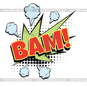 Word vector clipart graphic stock Bam comic word - vector clipart / vector image graphic stock
