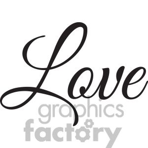 Word vector clipart svg black and white stock love vector word clipart. Royalty-free clipart # 394844 ... svg black and white stock