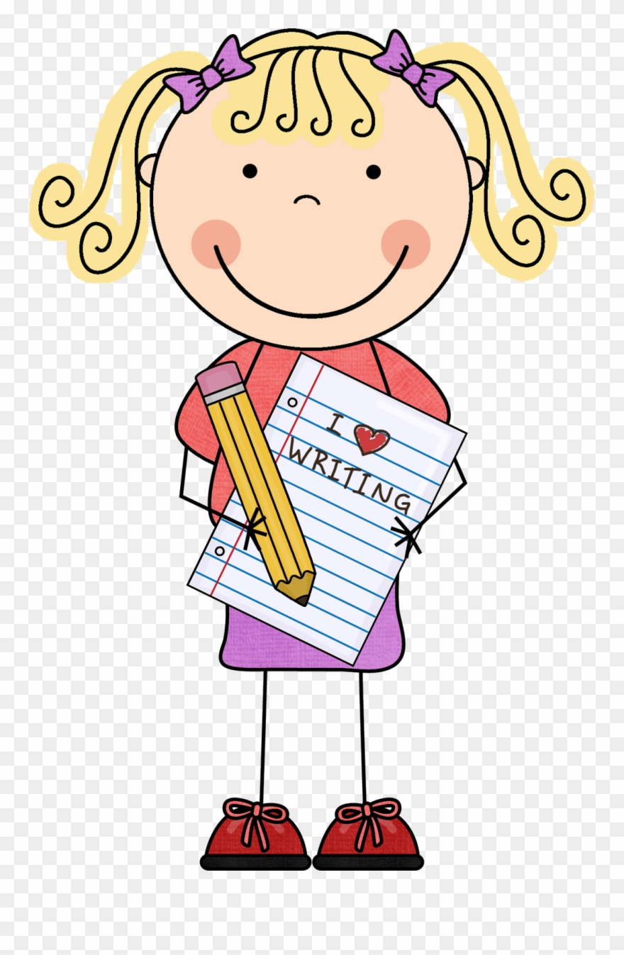 Word writing clipart picture library stock Girls Word Cliparts - Clipart Writing Kids - Png Download ... picture library stock