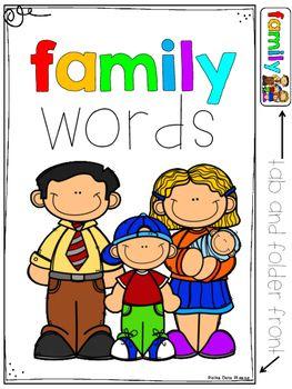 Wordbank clipart clip art free stock FREE Family Word Bank and Folder Sample | School | Word ... clip art free stock